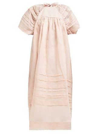19b325cb109b Cecilie Bahnsen Penelope Cotton Organdie Midi Dress - Womens - Light Pink