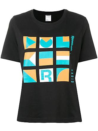 7a7ce1bf1 Reebok Camiseta com logo contrastante - Preto