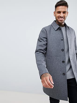 Asos wool mix trench coat in light gray - Gray