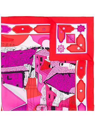 Emilio Pucci Florence-print scarf - Red