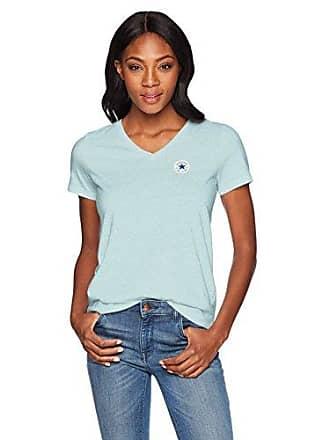 93ba6bc7a7da Converse Womens Chuck Patch Short Sleeve V Neck T-Shirt