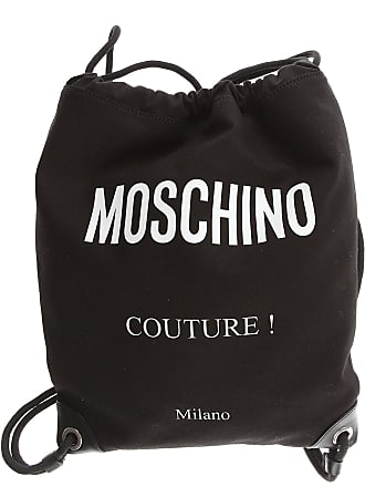 Moschino Tote Bag On Sale, Black, Canvas, 2017, one size