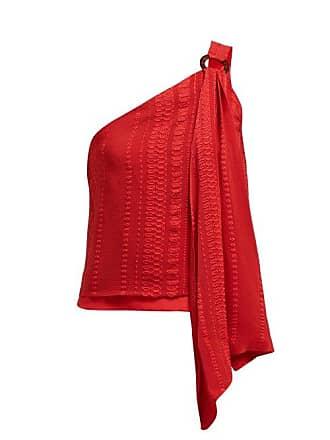 Zeus + Dione Rhea Asymmetric Silk Blend Top - Womens - Red