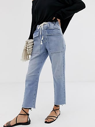 Free People City - Lässige Mom-Jeans-Blau