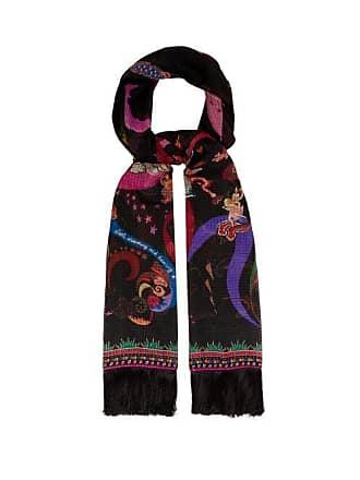 00b4fded38b1 Etro Foulard en soie à imprimé floral et fées