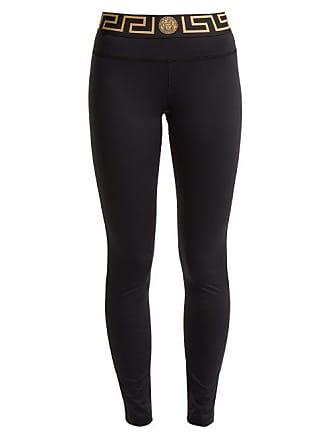 d01090cbc0c Versace Logo Print Performance Leggings - Womens - Black Gold
