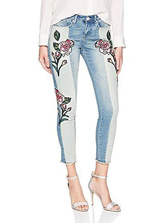William Rast Womens Perfect Skinny Ankle Jean, Hallows Rose Glass Embroidery, 25