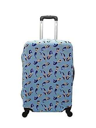 Yin's Capa de Mala Proteção Viagem Média Elastano Sereia Azul
