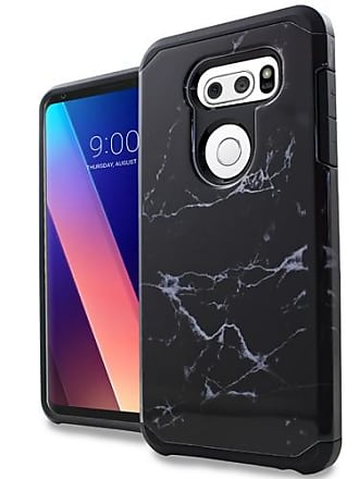 Mundaze Black White Marble Design Case For LG V30 Phone