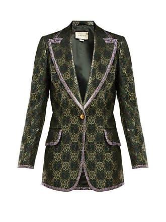Gucci Blazer à boutonnage simple et jacquard GG 2ed3d93dfce2