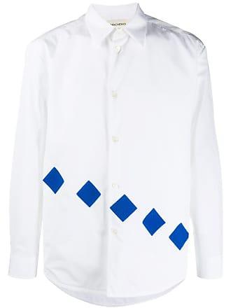 Namacheko Camisa com aplicação de patch - Branco