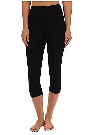 Yummie Tummie Talia Capri Cotton Shaping Legging (Black) Womens Casual Pants