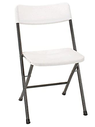 Dorel Home Products Cosco Resin Folding Chair with Molded Seat and Back White Speckle, 4-Pack