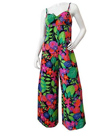 a4d929b187c 1stdibs 1960s Technicolor Floral Wide Leg Jumpsuit