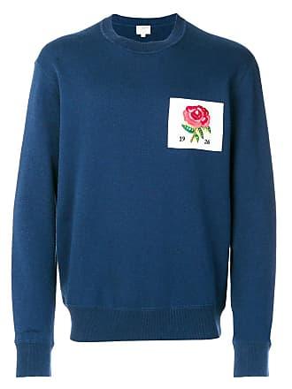 Kent & Curwen rose patch sweatshirt - Azul