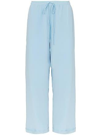 Jacquemus wide leg silk trousers - Blue