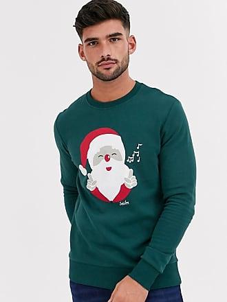 Jack & Jones Originals - Kerstsweater met Santa-print in groen