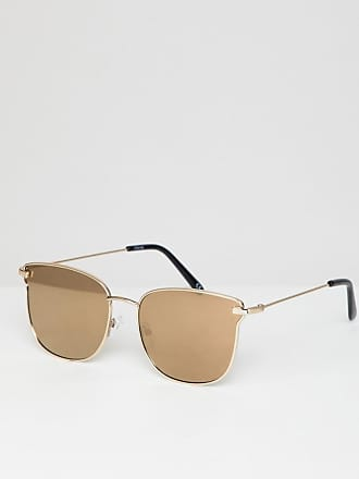 5db5d40f0ccea Asos angled glasses in shiny gold with gold mirror lens