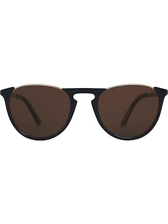 2d16a10e2fe Burberry Sunglasses Keyhole Pilot Round Frame Sunglasses - Blue