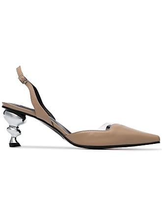 Yuul Yie nude Lissom 70 slingback metal heel pumps - Neutrals