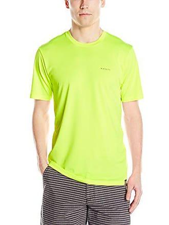 Rip Curl Mens Search Series Short Sleeve Rashguard Tee, Lime 2XL