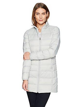 Amazon Essentials Womens Lightweight Water-Resistant Packable Down Coat, Light Grey, Medium