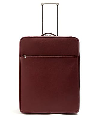 Valextra Leather Cabin Suitcase - Womens - Burgundy