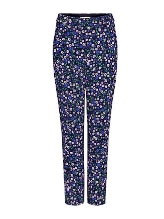 Rebecca Taylor Juliet Floral Straight-Leg Pants Black Combo