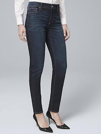 White House Black Market Womens High-Rise Sculpt Fit Slim Jeans by White House Black Market, Dark Wash, Size 14 - Regular