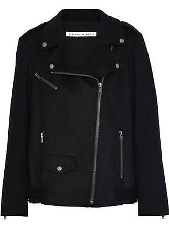 Rebecca Minkoff Rebecca Minkoff Woman Wool-blend Biker Jacket Black Size XS