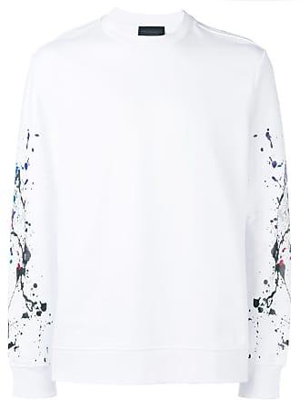 Diesel paint splattered boxy sweatshirt - White