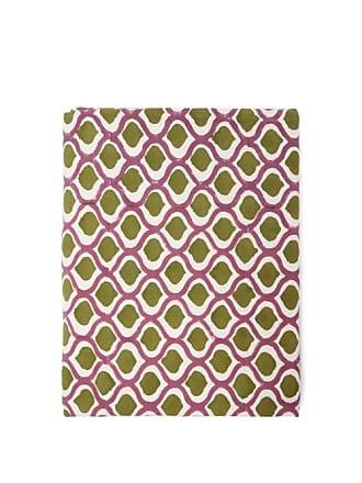 Les-Ottomans 250cm X 150cm Block-printed Cotton Tablecloth - Purple Multi