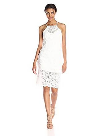J.O.A. JOA Womens Lace Midi Dress, White, X-Small