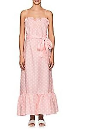 1821926967 Lisa Marie Fernandez Womens Liz Polka Dot Linen Maxi Dress - Pink Size 3