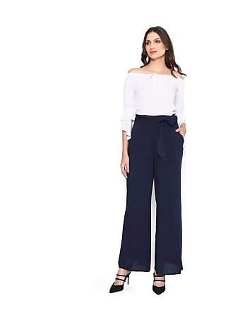 Lucy in the Sky Calca pantalona faixa azul marinho