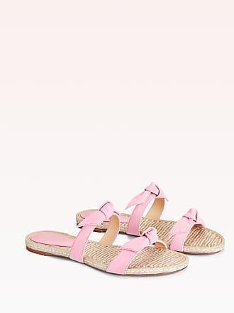 Alexandre Birman Clarita Braided Flat Sandal - 35.5 Flamingo Suede