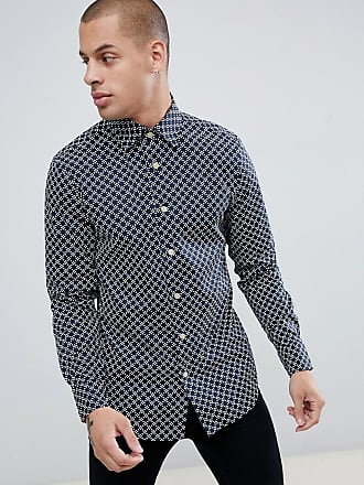 G-Star checkerboard super slim shirt in blue - Blue