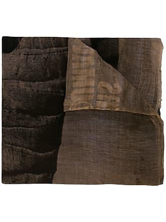 Uma Wang logo scarf - Brown