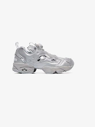 VETEMENTS grey X Reebok instapump fury leather sneakers