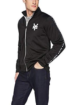 Zoo York Mens Jacquard Taped Zipper Jacket, Black, X-Large