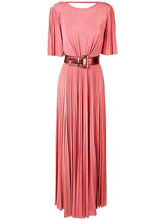 Elisabetta Franchi belted pleated dress - Pink