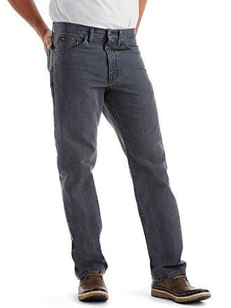 Lee Mens Regular Fit Straight Leg Jean, Thunder, 35W x 30L