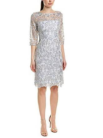 933cceae Tahari by ASL Womens 3/4 Sleeve LACE Sheath Dress, Corded Pwdr Emb,