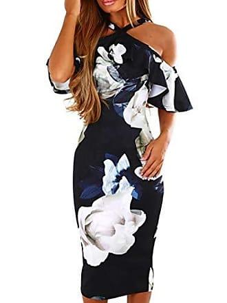 0f42b541eeeb0 Jutoo Festliche Kleider schöne Kleider etuikleid Strickkleid Damen Kleider  Sommerkleider Damen Elegante Kleider Lange Kleider blaues