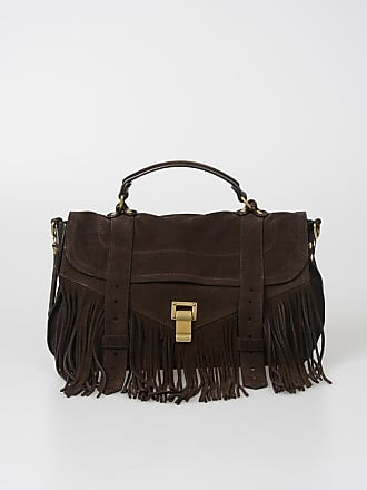 30fdcaf3b8b8 Proenza Schouler Suede PS1 MEDIUM Satchel Bag with Fringes size Unica