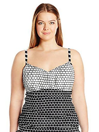 Sunsets Womens Plus-Size Sweetheart Shirred Tankini with Foam and Underwire, Unforgettable, 22W/D-DD Cup