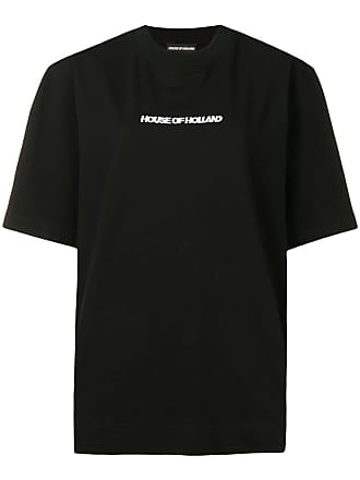 House Of Holland Camiseta oversized com bordado - Preto