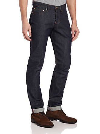 Naked & Famous Denim Mens WeirdGuy Low Rise Tapered Leg Jean In Dirty Fade Selvedge, Dirty Fade Selvedge, 36x35