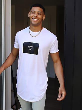 Topman Manhattan - Lang geschnittenes T-Shirt in Weiß