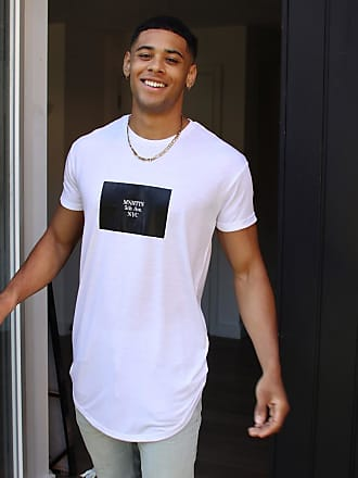 Topman longline Manhattan t-shirt in white